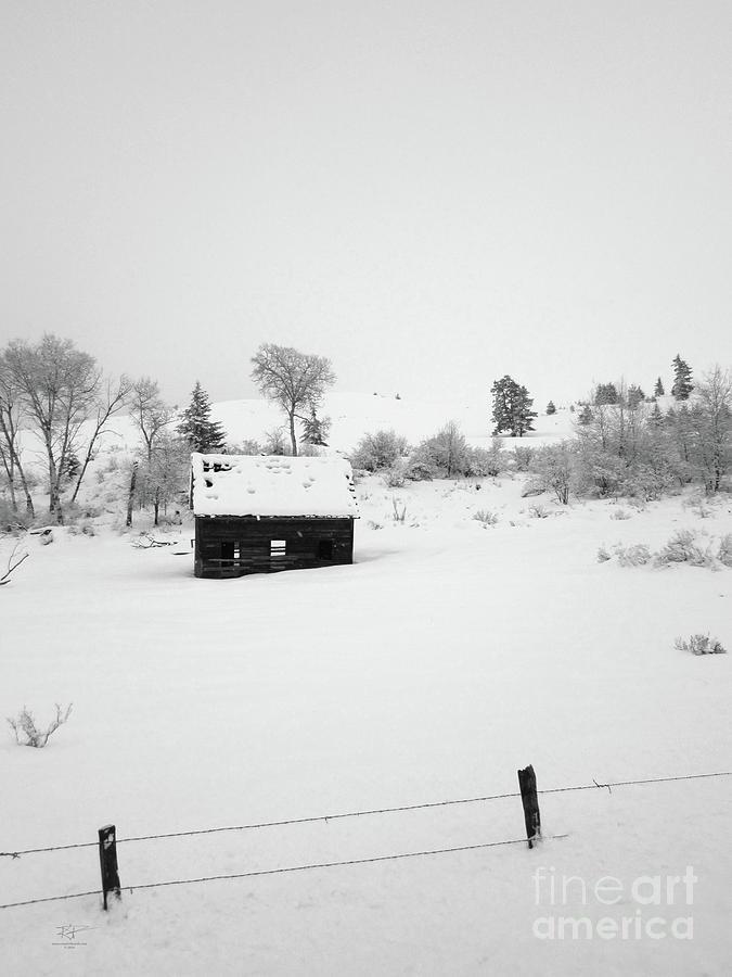 Snow Photograph - Farmhouse In Snow by Katrina Perekrestenko