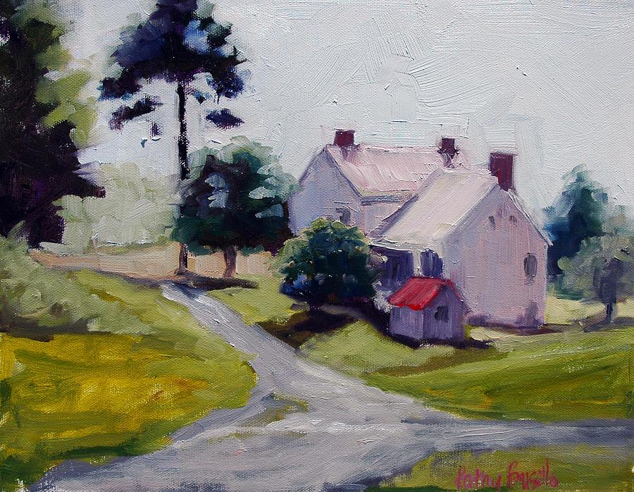 Farm Painting - Farmhouse Near Lisburn Road by Kathy Busillo