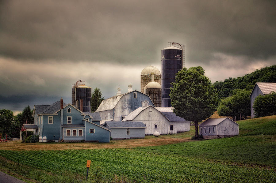 Finger Lakes New York Photograph - Farming Before The Storm Finger Lakes New York 04 by Thomas Woolworth