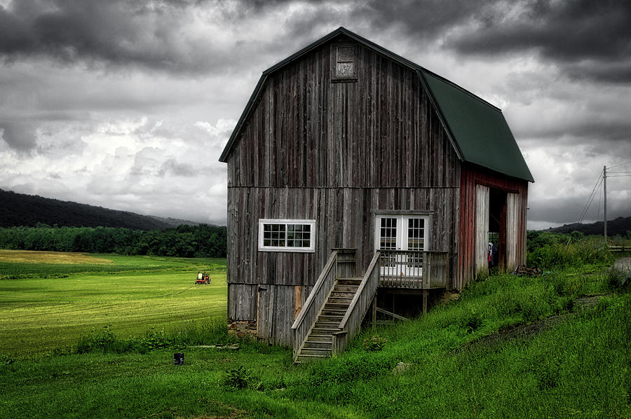 Finger Lakes New York Photograph - Farming New York State Before The July Storm 01 by Thomas Woolworth