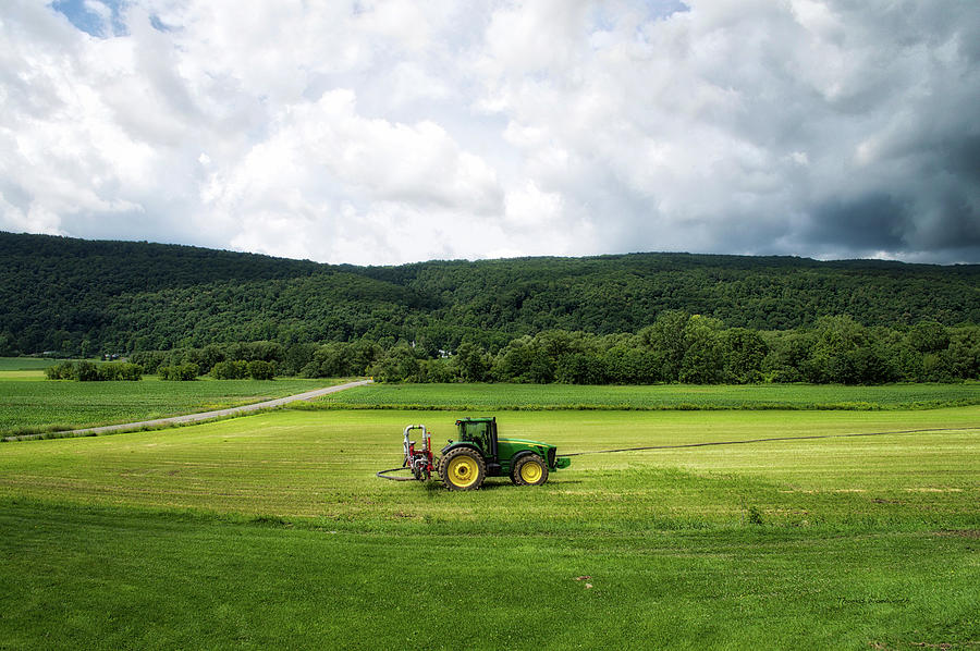 Finger Lakes New York Photograph - Farming New York State Before The July Storm 03 by Thomas Woolworth