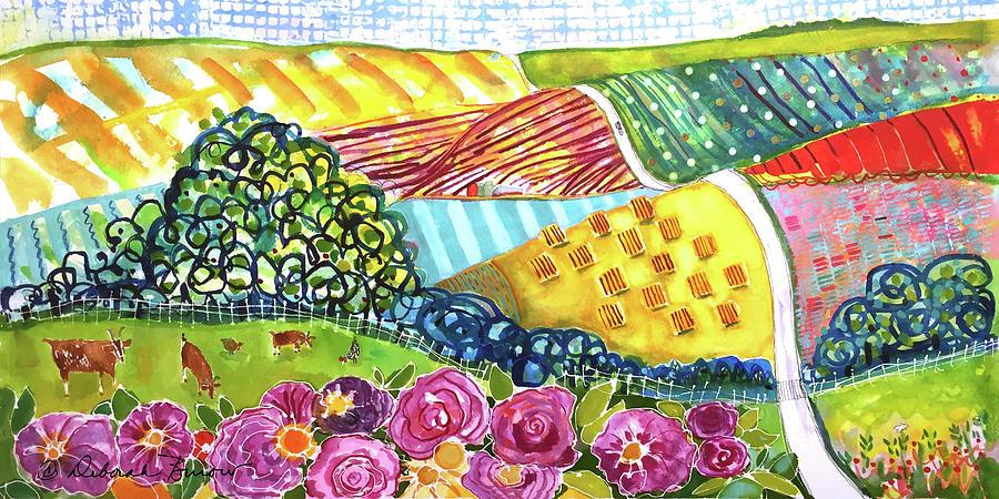 Farmland Painting - Farming Patterns by Deborah Burow