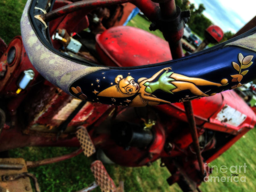 Tractors Photograph - Farming With Tinker Bell  by Steven Digman