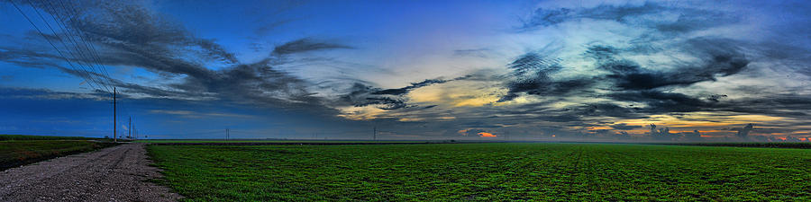 Panorama Photograph - Farmland Panorama by Roberto Aloi