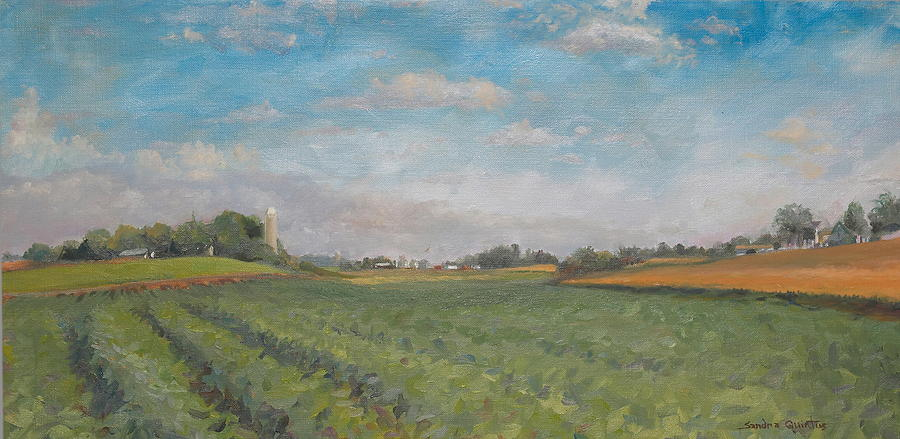 Plein Aire Painting - Farms And Fields by Sandra Quintus