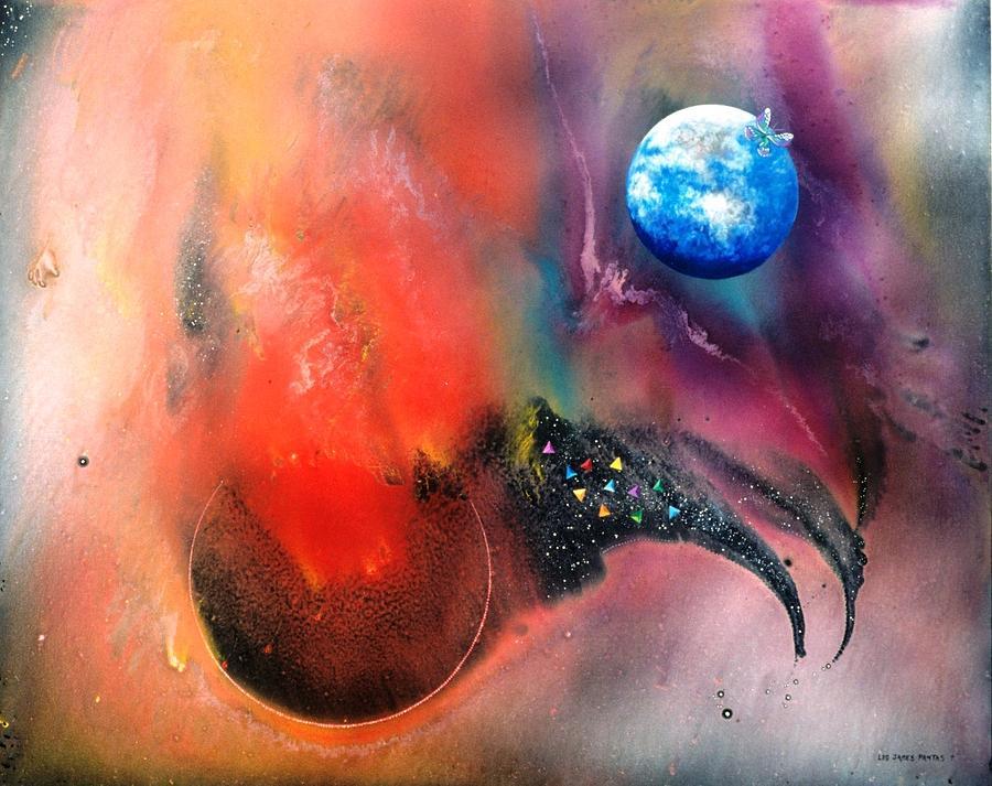 Spiritual Painting - Farwell To Mars by Lee Pantas