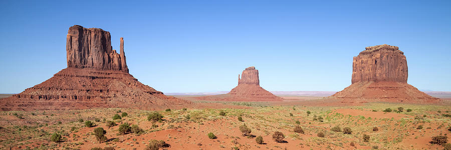 Monument Valley Photograph - Fascinating Monument Valley Panoramic View by Melanie Viola