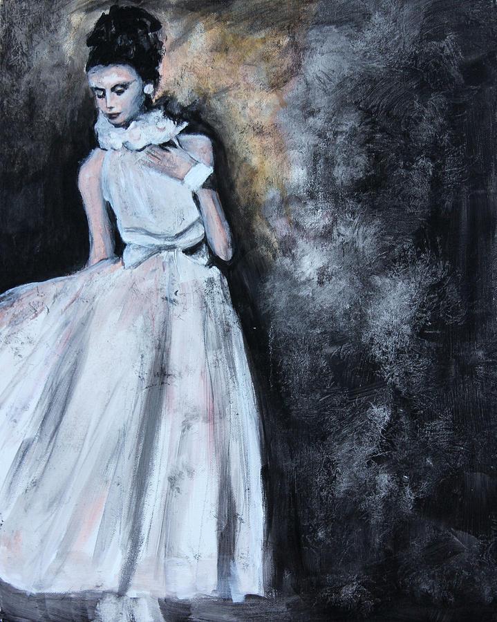Vintage Painting - Fashion Model by Denice Palanuk Wilson