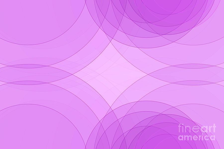 Abstract Digital Art - Fashion Semi Circle Background Horizontal by Frank Ramspott