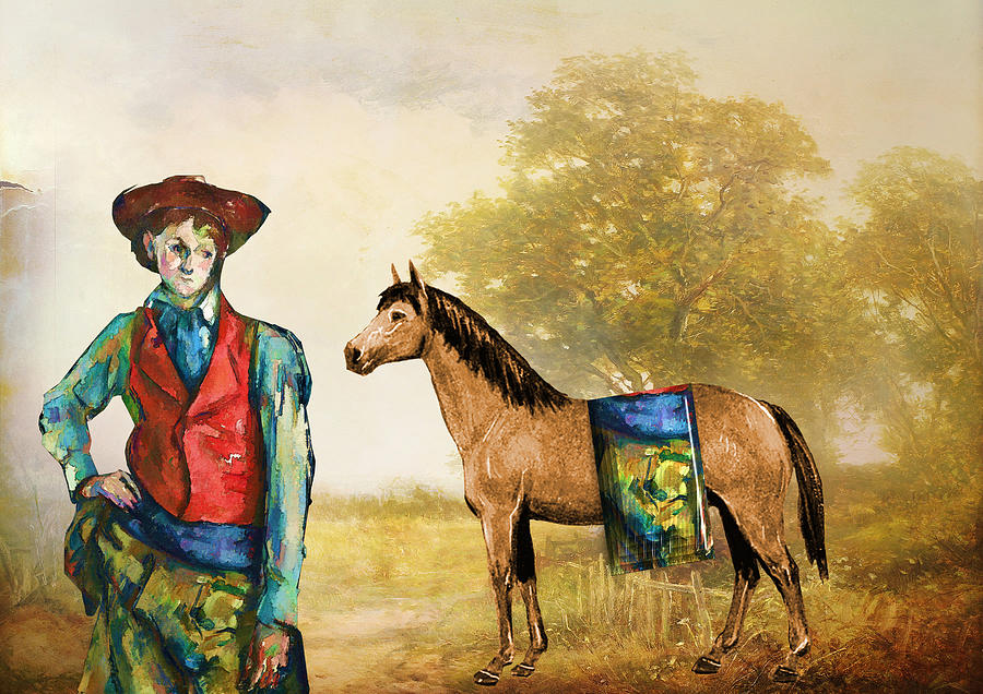 Western Digital Art - Fashionably Western by Laura Botsford