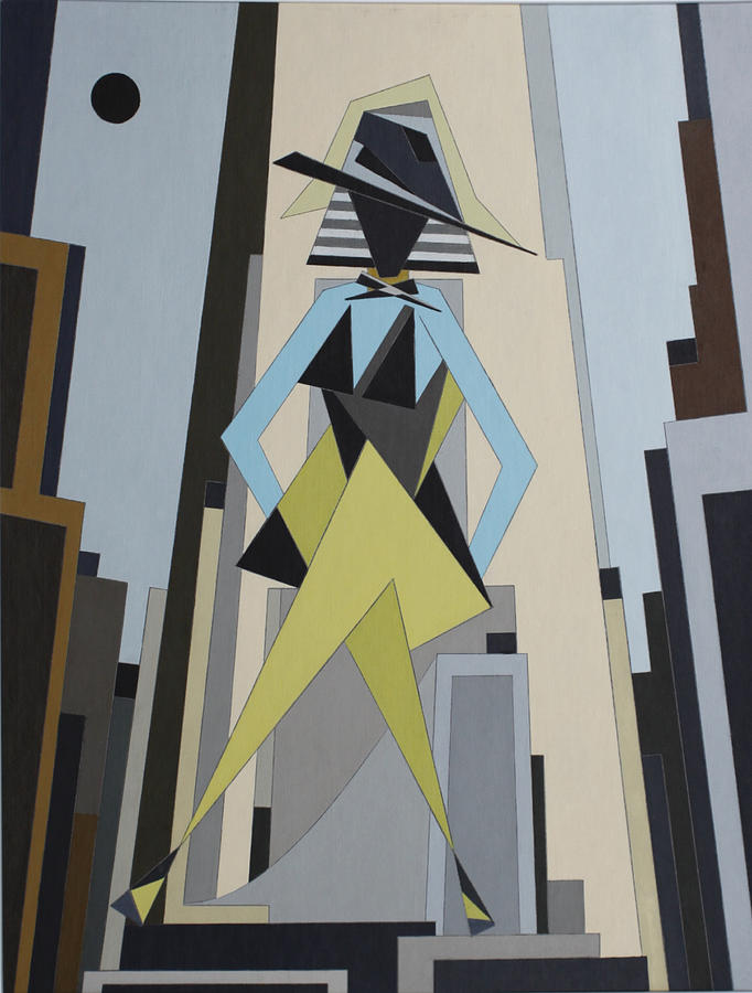 Female Painting - Fashionista in city by Paul A Addams Archive