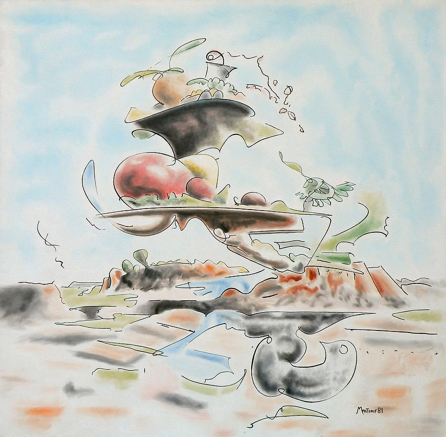 Abstract Painting - Fast Food by Dave Martsolf