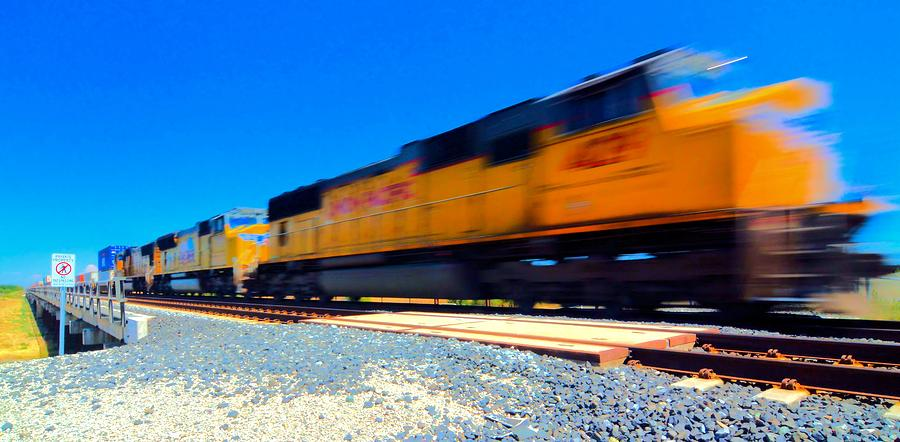 Freight Train Photograph - Fast Freight by Josephine Buschman