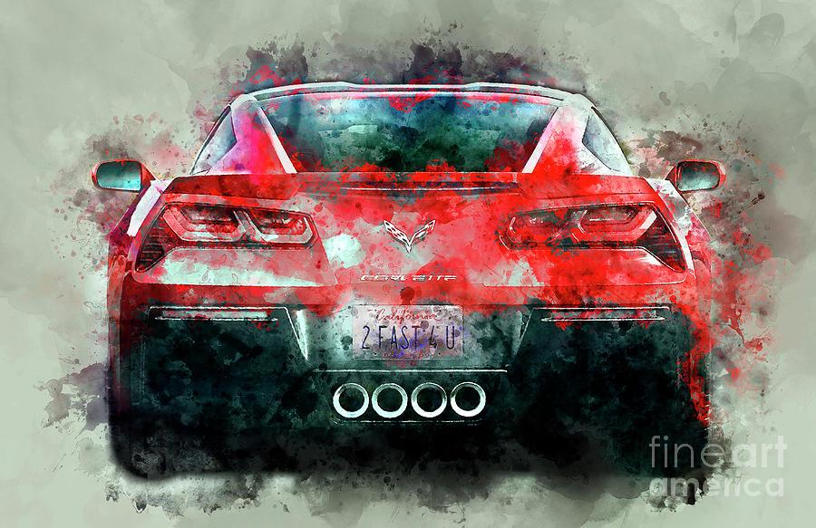 Corvette Painting - Fast Vette by Jon Neidert