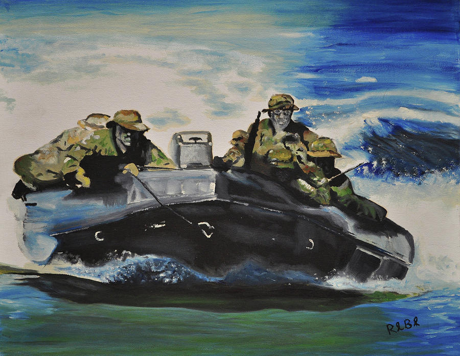 Navy Seals Painting - Fast With Fury by Ruben Barbosa