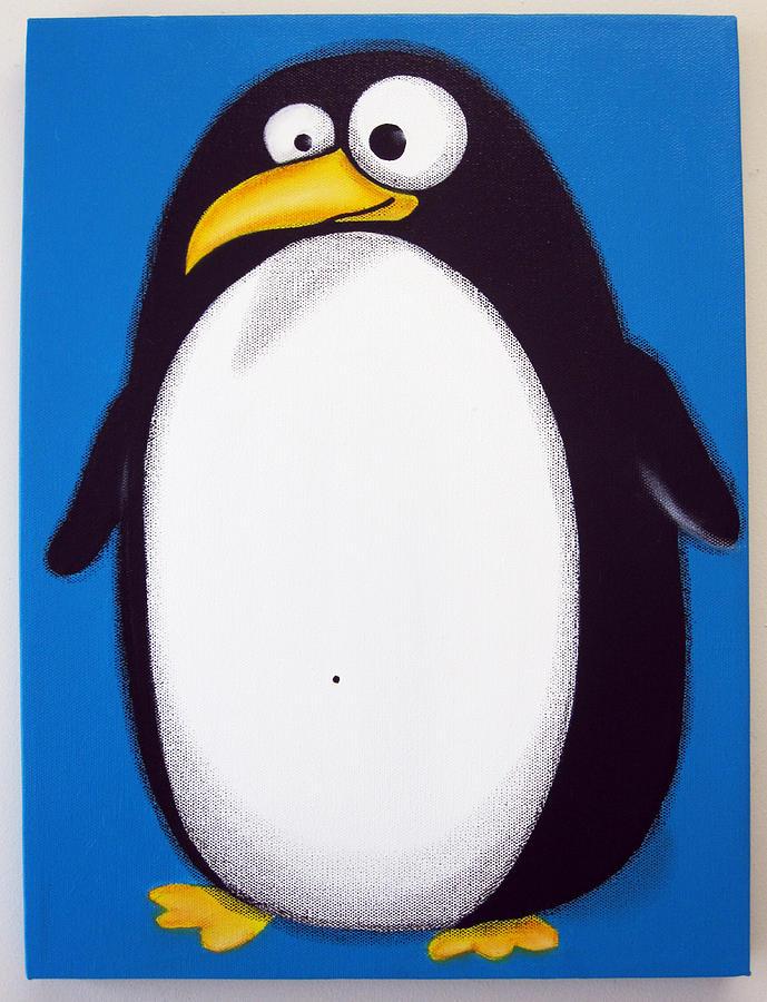так смешные картинки пингвина рисунок одеянии нет ничего