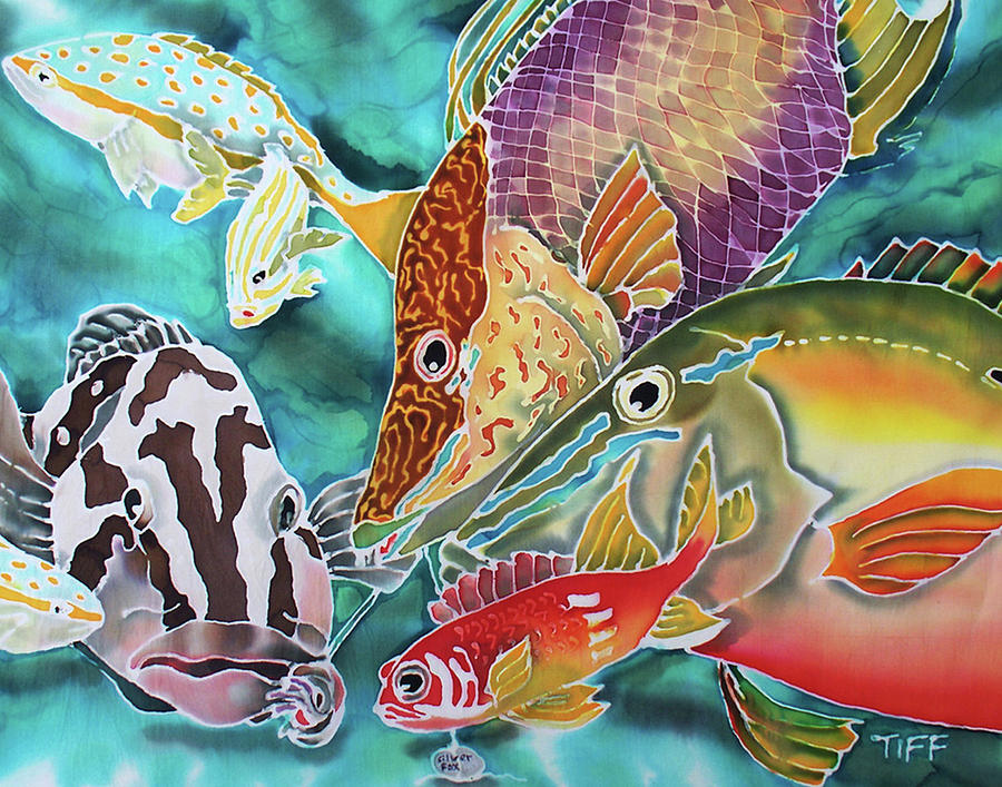 Fish Painting - Fatal Attraction by Tiff