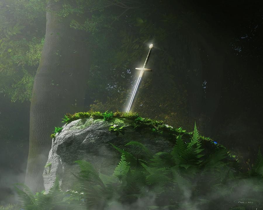 Camelot Digital Art - Fate Of A Kingdom by Melissa Krauss