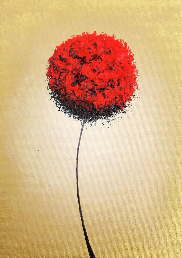 Red Flower Painting - Fates Finding by Rachel Bingaman