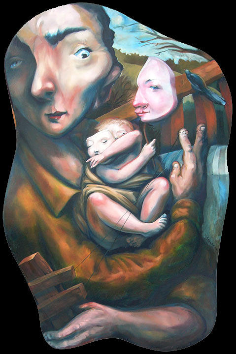 Father And Child Painting by Nathan  Jensen