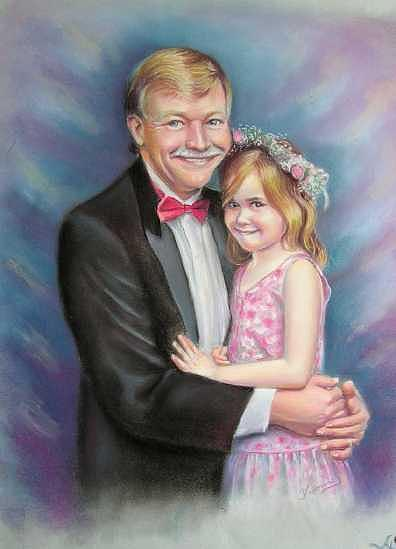 Father And Daughter Painting by Yvonne Seiwell