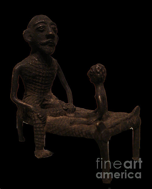Sculpture Sculpture - Father And Son by Zakatu Ram