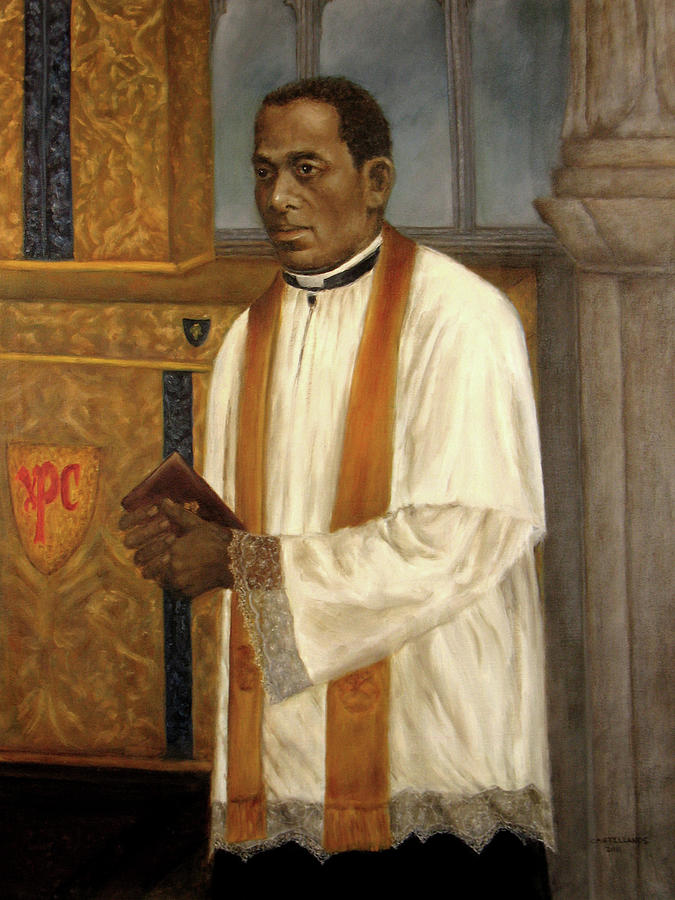 Father Augustus Tolton Painting By Sylvia Castellanos