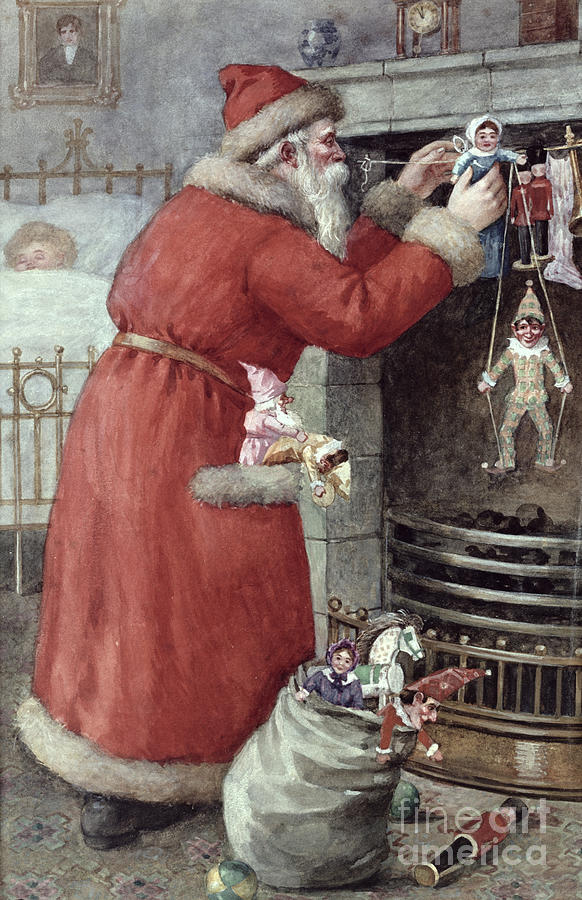 Father Painting - Father Christmas by Karl Roger