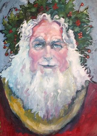 Father Christmas Painting by Kevin McKrell