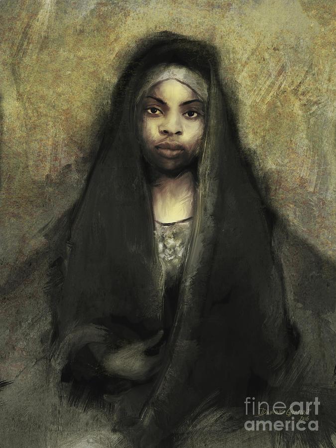 Digital Digital Art - Fatima by Dwayne Glapion