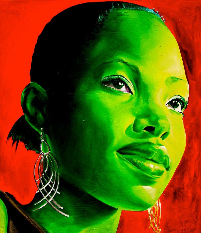 Portraiture Painting - Fatima by Laura Pierre-Louis