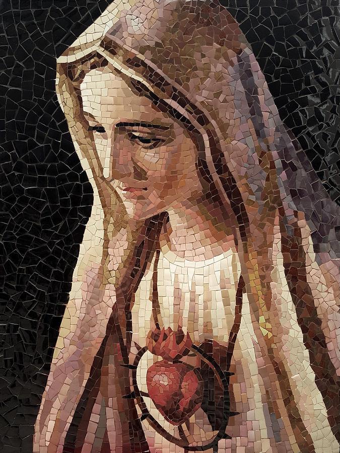 Mary Painting - Fatima by Mai Nhon