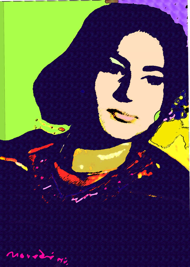 My Sister Mixed Media - Fatima by Noredin Morgan