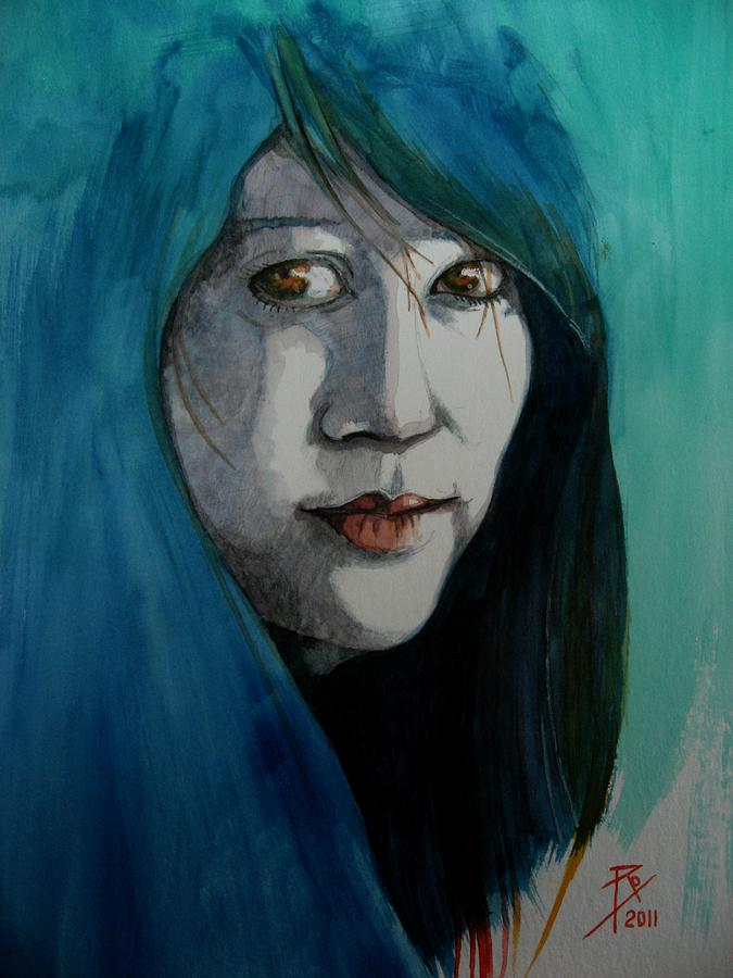 Female Painting - Fatima by Ray Agius