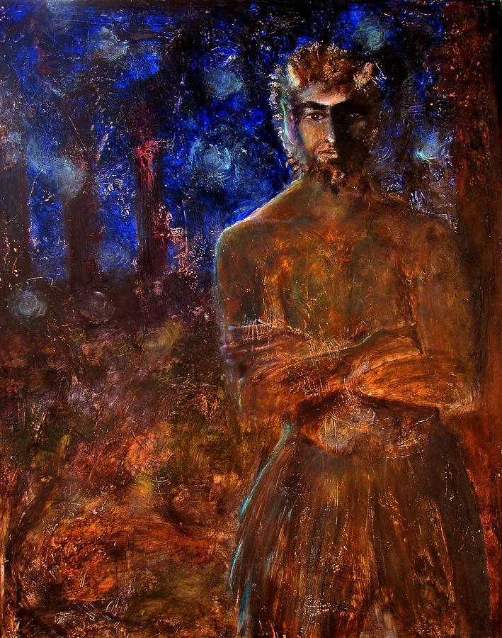 Faun Painting - Faun  by April Turner