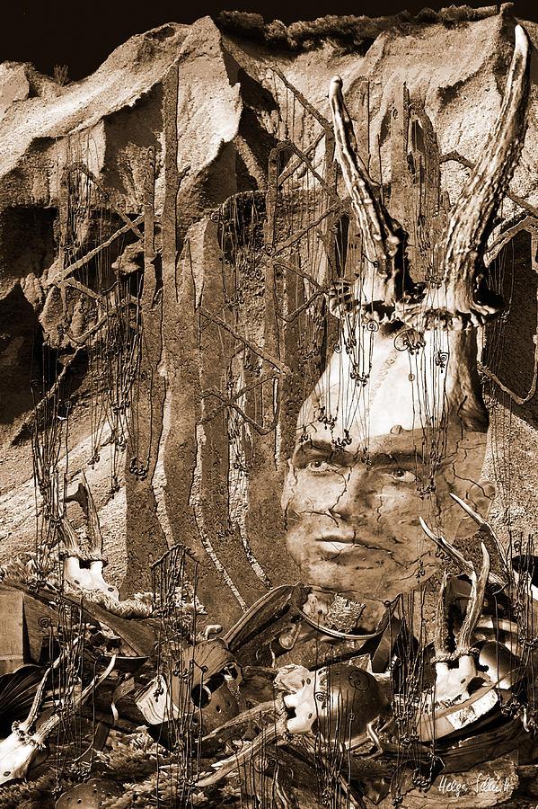 Faun Digital Art - Faun by Helga Schmitt