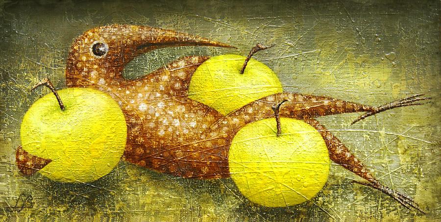 Apples Painting - Fauna by Lolita Bronzini