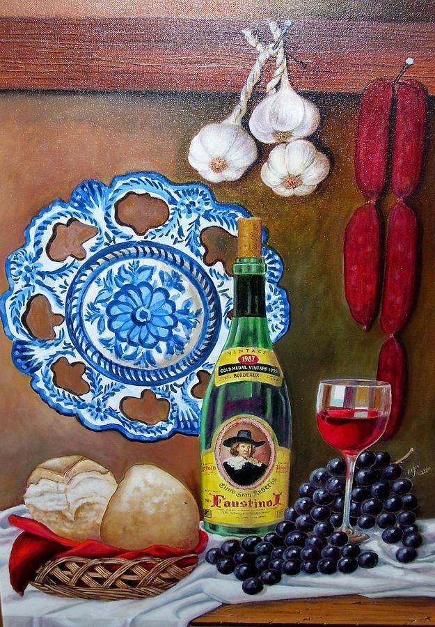 Still Life Painting - Faustino I by Rafael marin