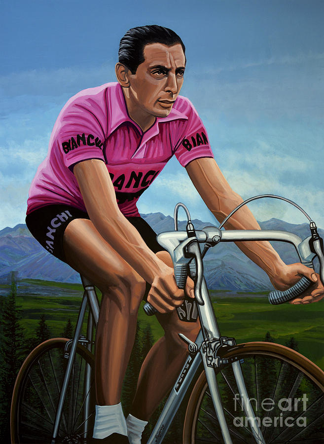Fausto Coppi Painting Painting By Paul Meijering