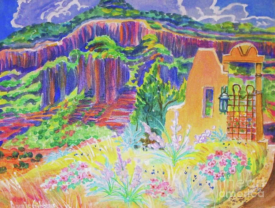 Purples Digital Art - Faux Gate In Gateway Colorado by Annie Gibbons