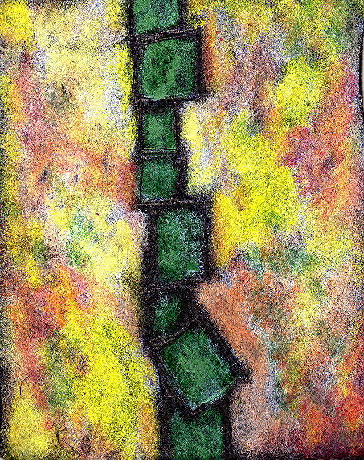 Abstract Painting - Faux Tile Two by Wayne Potrafka