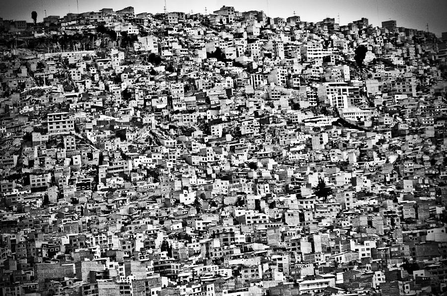 Architecture Photograph - Favela Village In El Alto, La Paz, Bolivia by Joel Alvarez