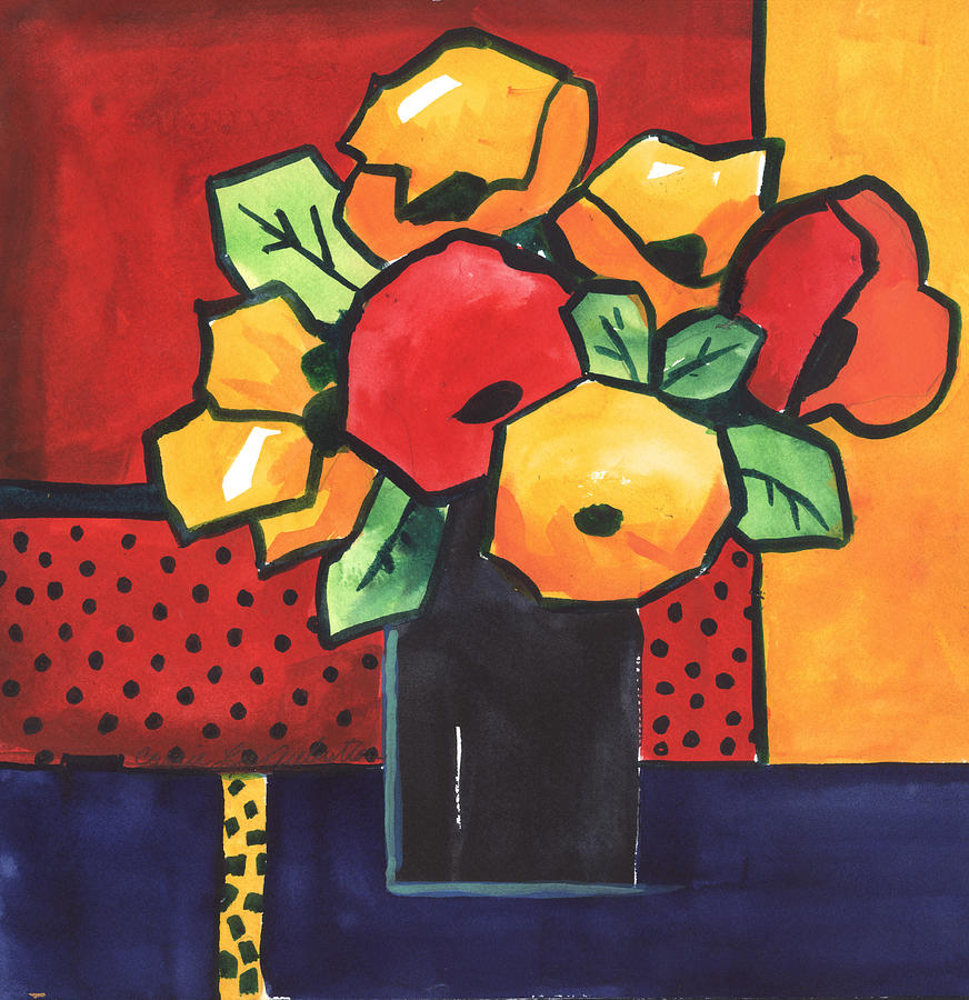 Painting Painting - Favorite Funny Flowers 2 by Carrie Allbritton