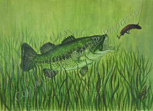 Fish Painting - Favorite Lure by Kathie Papasso