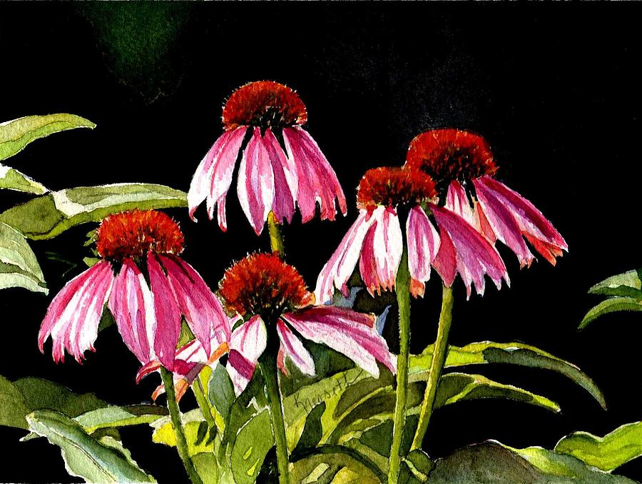 Watercolor Painting - Favour by Kathy Nesseth