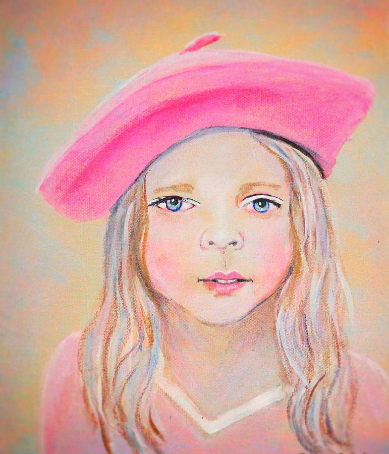 Little Girl Painting - Fayanna Little French Angel Of Trust by The Art With A Heart By Charlotte Phillips