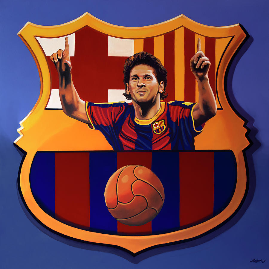 Lionel Messi Painting - Fc Barcelona Painting by Paul Meijering