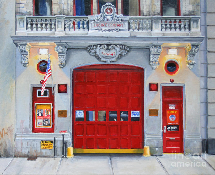 Fdny Painting - FDNY Engine Company 65 by Paul Walsh