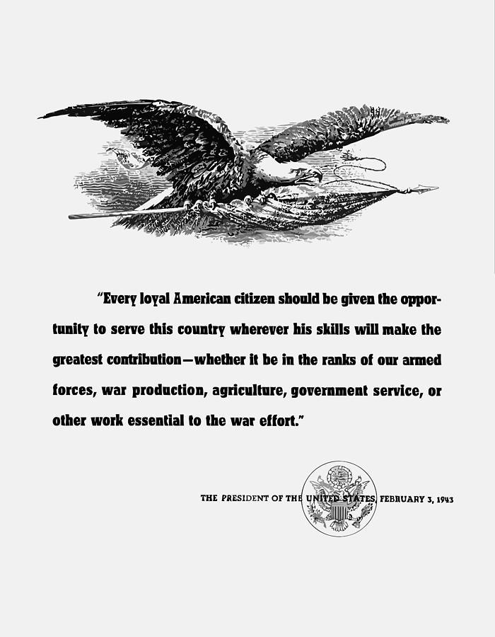 Franklin Roosevelt Digital Art - FDR War Quote by War Is Hell Store