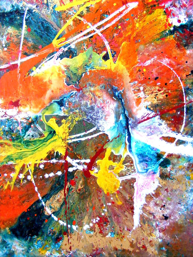 Abstract Painting - Fear Of Flying by Pearlie Taylor